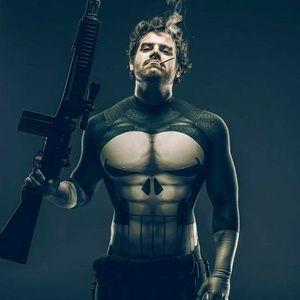 Punisher Full Bodysuit Costume